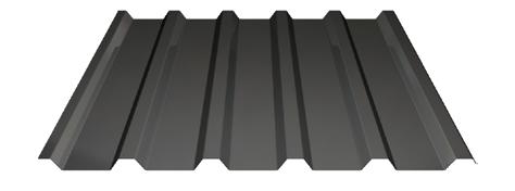 Trapezblech mit trapezförmigem Profil