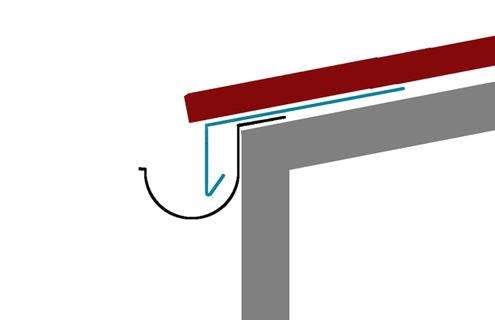 Schematische Zeichnung eines Traufblechs
