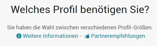 Profilauswahl